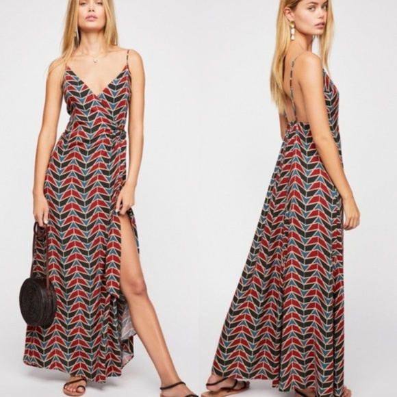Free People Dresses & Skirts - Free People Siren Wrap Maxi Dress